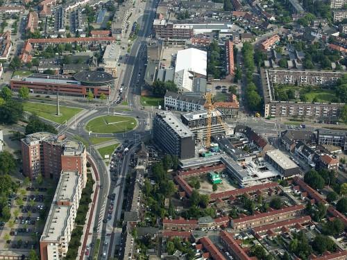 Luchtfoto realisatie project Marconilaan/Boschdijk te Eindhoven
