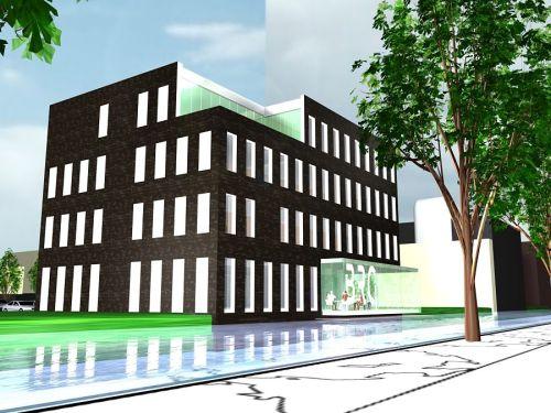 Artist impression kantoorgebouw BRG Accoutants te Oosterhout