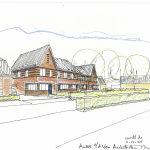 Artist impression Breda' s Welvaren 6 nieuwbouw woningen te Moergestel
