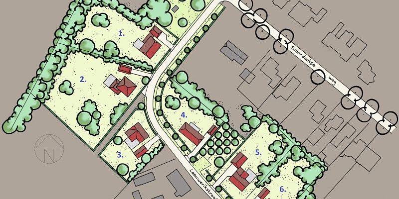 6 exclusieve bouwkavels Landvoort